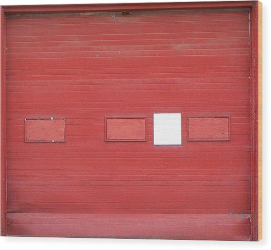 Big Red Door With Accent Wood Print