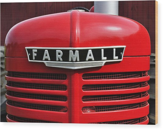 Big Red Farmall Wood Print