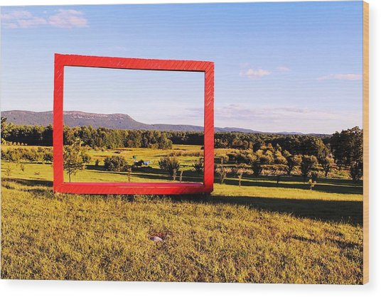 Big Red Frame Easthampton Wood Print