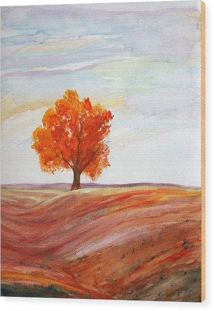 Big Red Wood Print by Julie Lueders