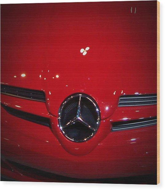 Big Red Smile - Mercedes-benz S L R Mclaren Wood Print