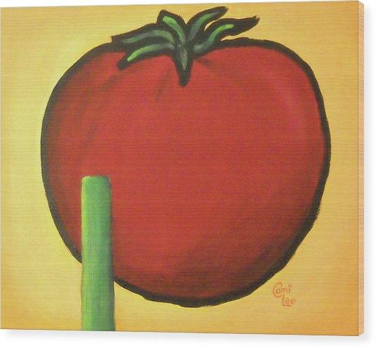 Big Red Tomato Wood Print