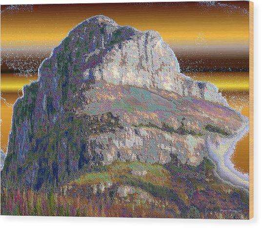 Big Rock Wood Print by Wayne Bonney
