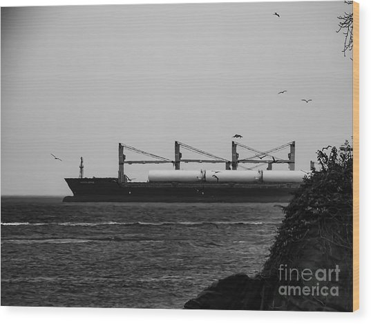 Big Ship Wood Print