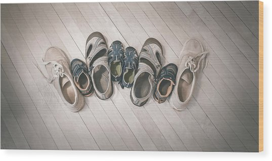 Big Shoes To Fill Wood Print
