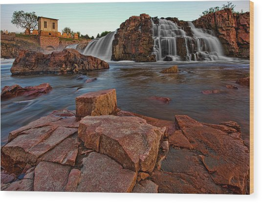 Big Sioux River Falls Wood Print
