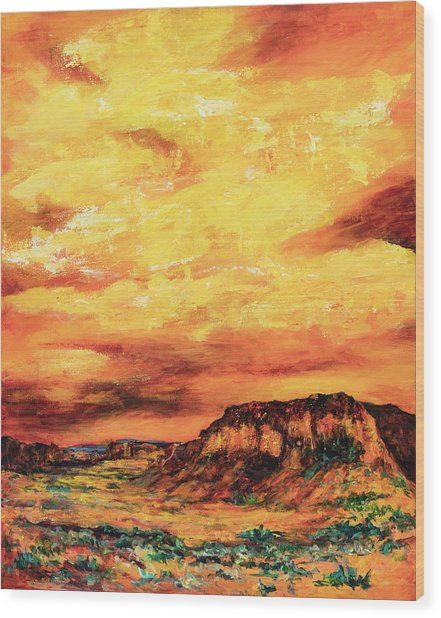 Big Sky At Capital Reef Wood Print
