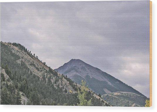 Big Sky Country - Montana Wood Print by Janis Beauchamp