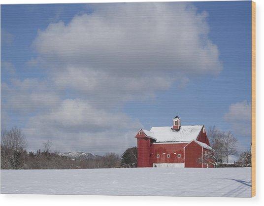 Big Sky Farm Wood Print