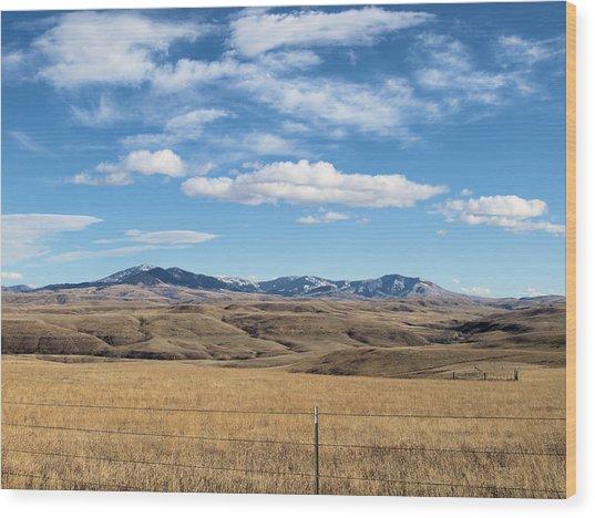 Big Sky Montana Wood Print by Jessica Yudis