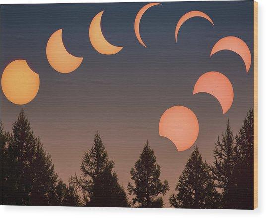 Big Sky Solar Eclipse // Whitefish, Montana  Wood Print