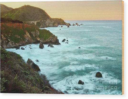 Big Sur Sunrise Wood Print