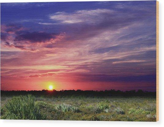 Big Texas Sky Wood Print