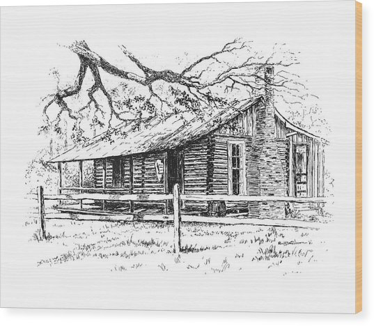Big Thicket Information Center Wood Print