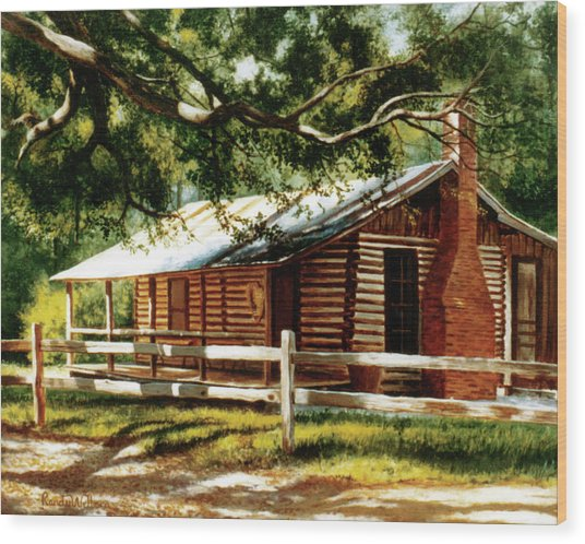 Big Thicket Information Center_the Staley Cabin Wood Print