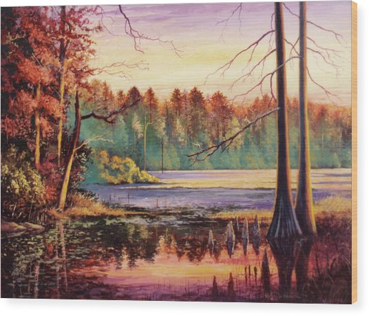 Big Thicket Swamp Wood Print