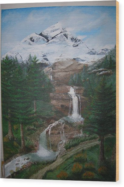 Big White One Wood Print by Jack Hampton