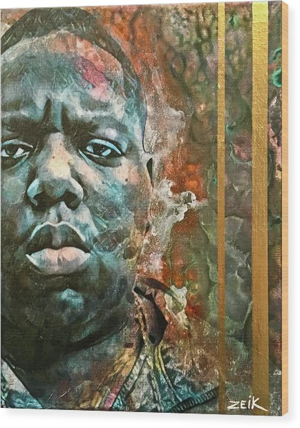 Biggie - Stick And Move Wood Print by Bobby Zeik