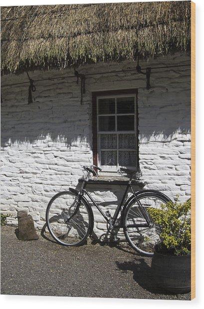 Bike At The Window County Clare Ireland Wood Print