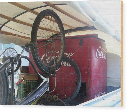 Bike Cola  Wood Print by Steven Digman