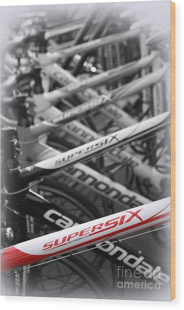 Bike Frames Wood Print