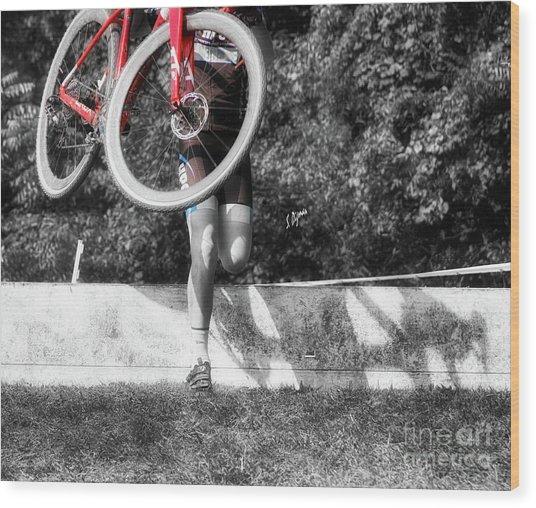 Bike Lifting  Wood Print by Steven Digman