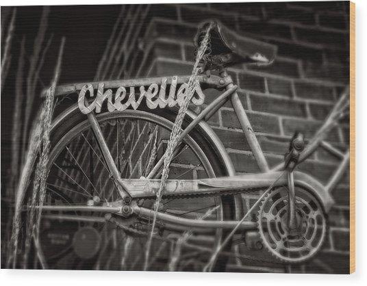 Bike Over Chevelles Wood Print