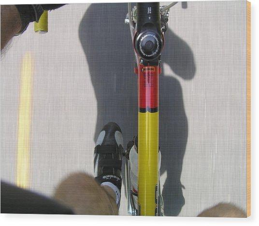 Bike Perspective Wood Print