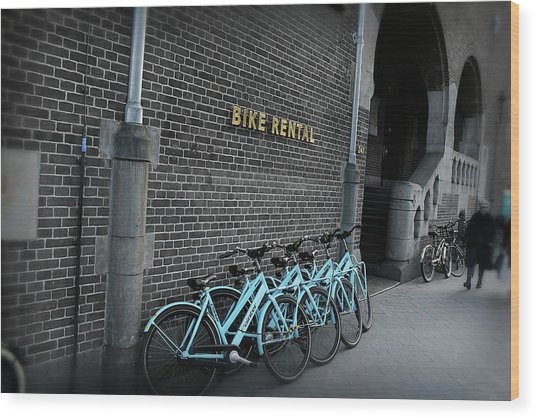 Wood Print featuring the photograph Bike Rental by Scott Hovind