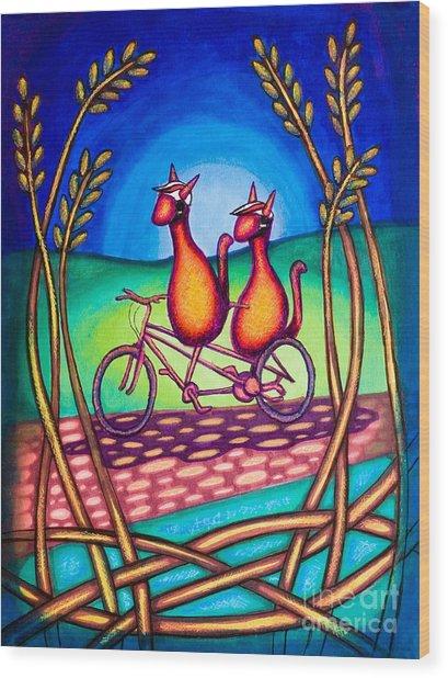 Biker Kats Wood Print