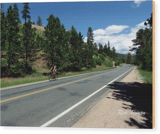 Biking Estes Wood Print