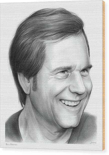 Bill Paxton Wood Print