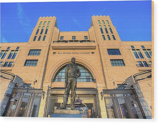 Bill Snyder Family Stadium  Wood Print by JC Findley