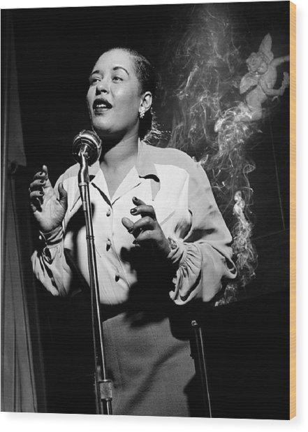 Billie Holiday  New York City Circa 1948 Wood Print