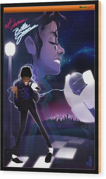 Billie Jean 2 Wood Print