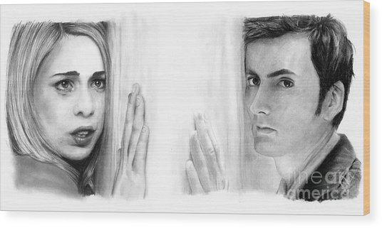 Billie Piper And David Tennant Wood Print by Rosalinda Markle