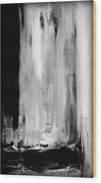 Billowing At Midnight Wood Print