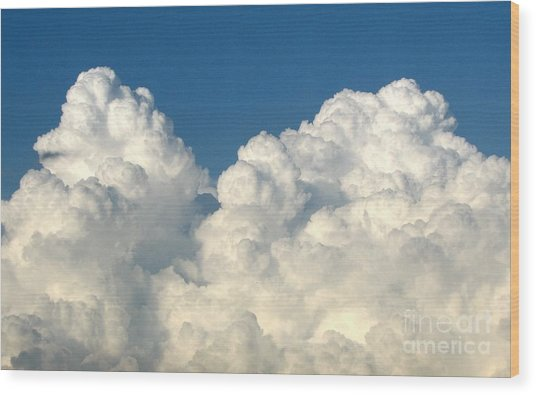 Wood Print featuring the photograph Billowing Clouds 1 by Rose Santuci-Sofranko