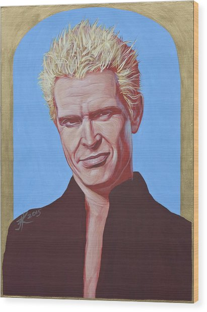 Billy Idol Wood Print