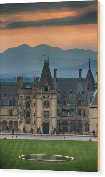 Biltmore At Sunset Wood Print by John Haldane