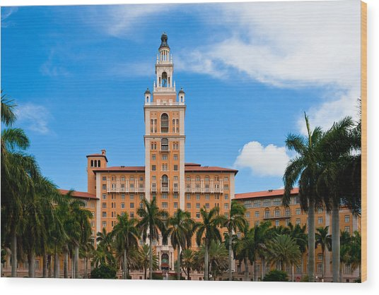 Wood Print featuring the photograph Biltmore Hotel by Ed Gleichman