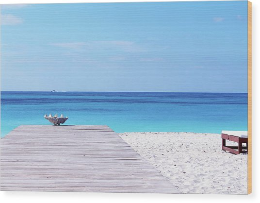 Bimini Beach Club Wood Print