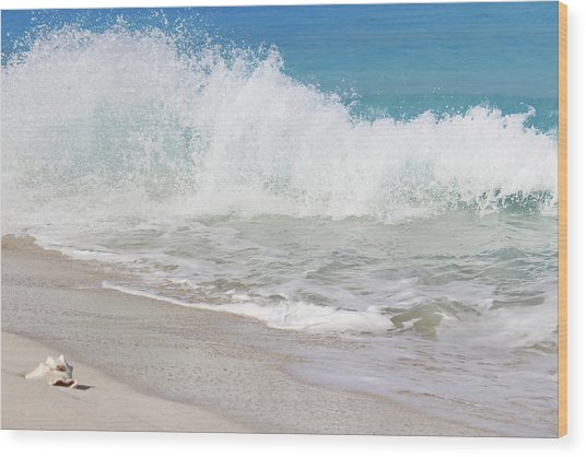 Bimini Wave Sequence 1 Wood Print