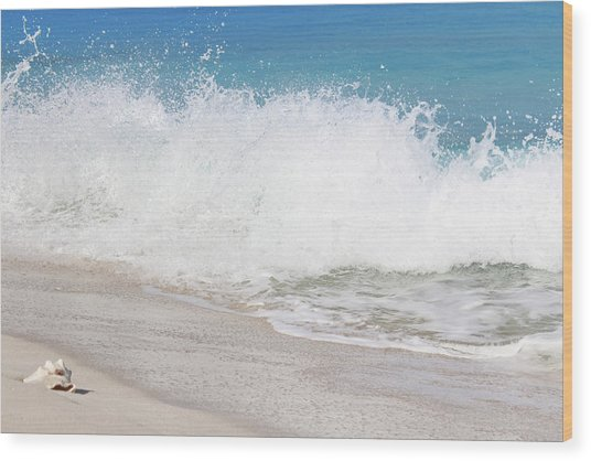 Bimini Wave Sequence 3 Wood Print