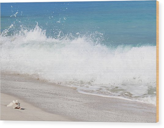 Bimini Wave Sequence 4 Wood Print