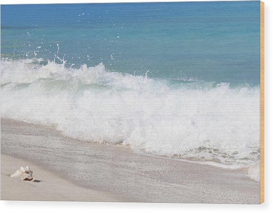 Bimini Wave Sequence 5 Wood Print