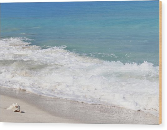 Bimini Wave Sequence 6 Wood Print