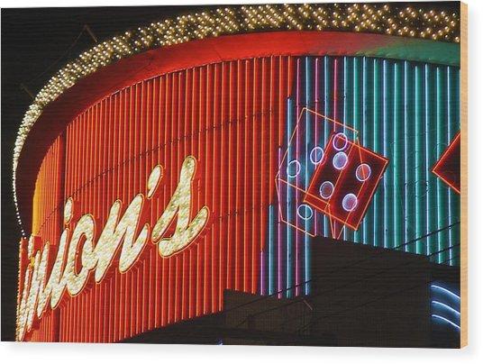 Binions Casino  Wood Print by Bill Buth