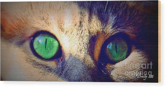 Bink Eyes Wood Print