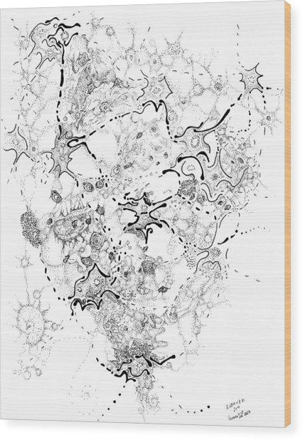 Biology Of An Idea Wood Print